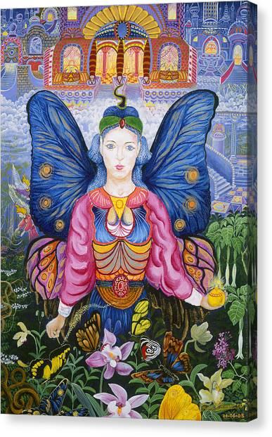 Canvas Print featuring the painting Sumak Nusta by Pablo Amaringo
