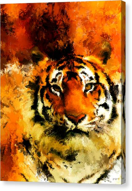 Siberian Cats Canvas Print - Sumatran by Lourry Legarde