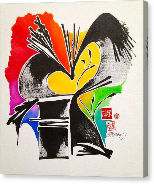 Sumi-e Dance Canvas Print