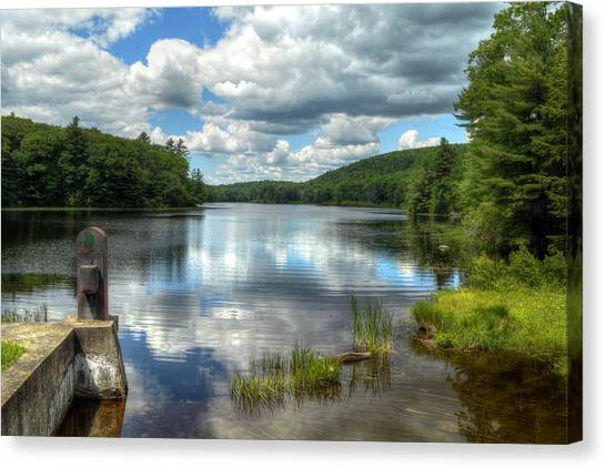 Summer Afternoon At The Spillway Canvas Print