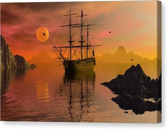 Summer Anchorage Canvas Print