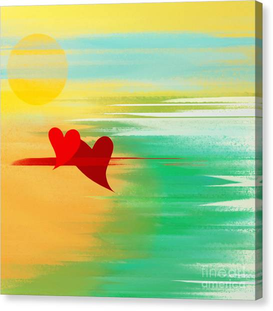 Andee Design Red Canvas Print - Summer And In Love by Andee Design