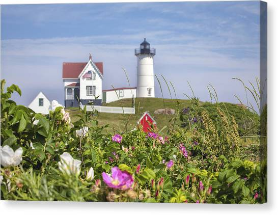 Summer At Nubble Light Canvas Print