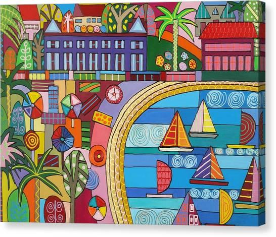 Summer At The Beach Canvas Print