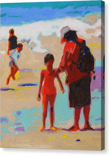 Summer Beach Play Canvas Print