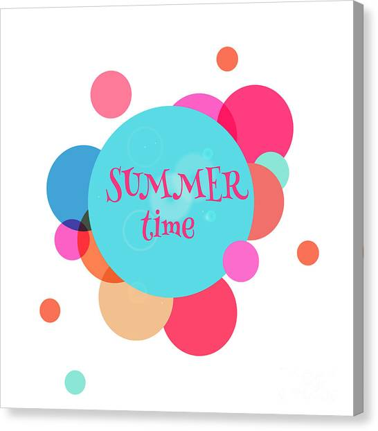 Summer Colorful Background With Text - Canvas Print by Vector art