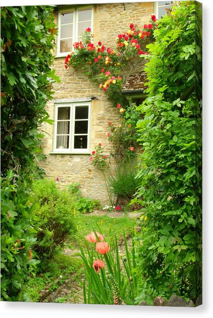 Summer Cottage Canvas Print