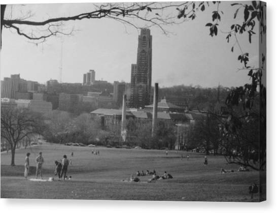 Carnegie Mellon University Canvas Print - Summer Day At Schenley Park by Joann Renner