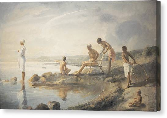 Baroque Art Canvas Print - Summer Day by Odd Nerdrum