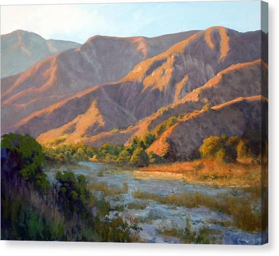 Summer Evening Eaton Canyon Canvas Print by Armand Cabrera