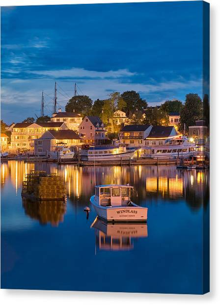 Summer Evening On Boothbay Harbor Canvas Print