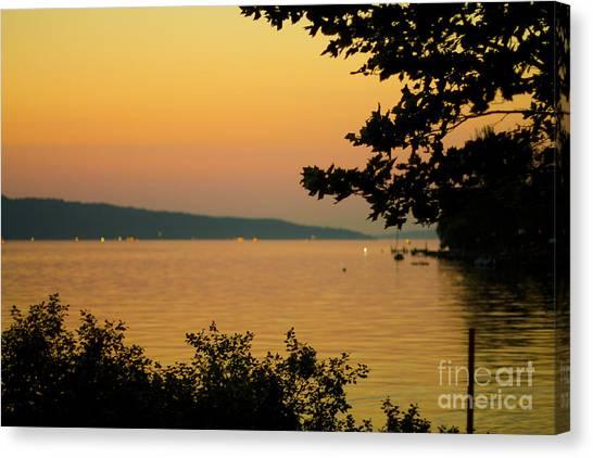 Summer Evening On Cayuga Lake Canvas Print