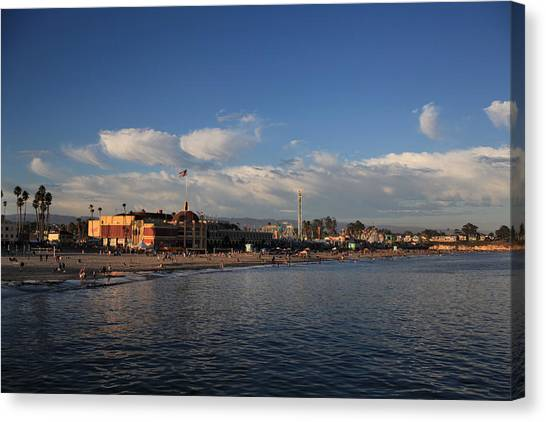 Summer Evenings In Santa Cruz Canvas Print