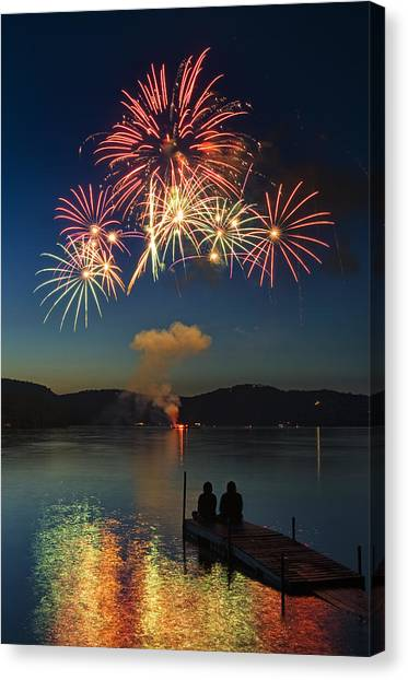 Summer Fireworks Canvas Print