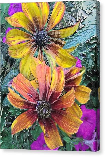 Summer Flowers One Canvas Print