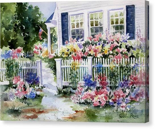 Summer Garden Canvas Print by Bobbi Price