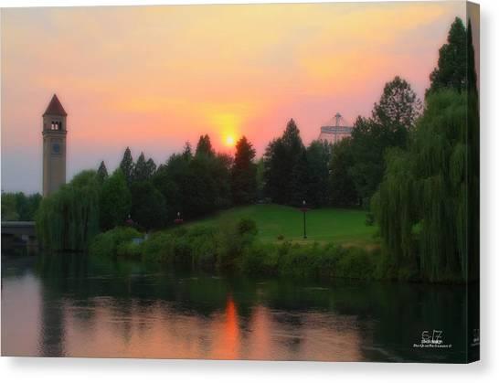 Summer Green Canvas Print by Dan Quam