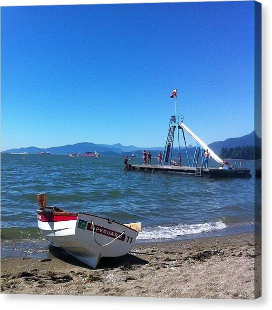 Lifeguard Canvas Print - Summer Has Arrived In Vancouver! by Megan Kennedy