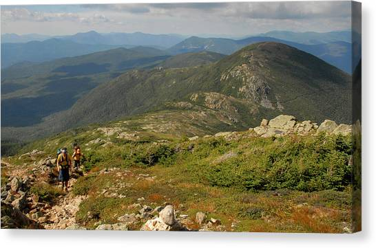 Summer Hike On The Crawford Path Canvas Print by Ken Stampfer