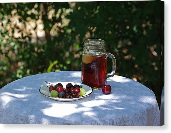 Iced Tea Canvas Print - Summer In The Shade by Robyn Stacey