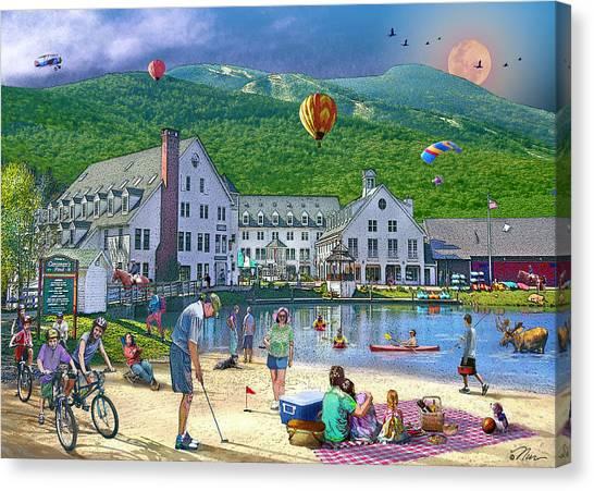 Summer In Waterville Valley Canvas Print