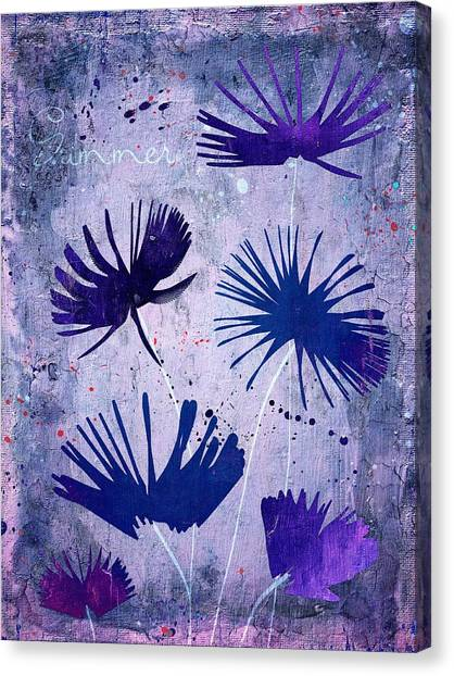 Fleur Canvas Print - Summer Joy - 25c2 by Variance Collections