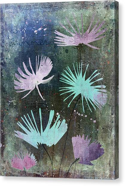 Fleur Canvas Print - Summer Joy - 28at2 by Variance Collections