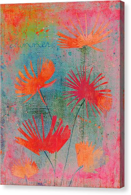 Fleur Canvas Print - Summer Joy - 44bb by Variance Collections