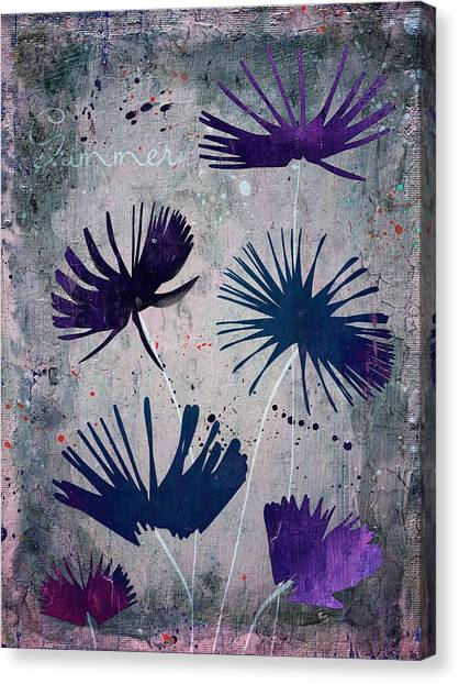 Fleur Canvas Print - Summer Joy - S25b by Variance Collections