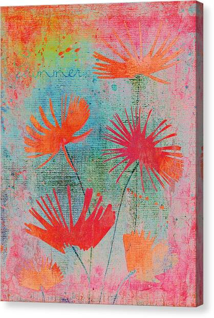 Fleur Canvas Print - Summer Joy - S44a by Variance Collections