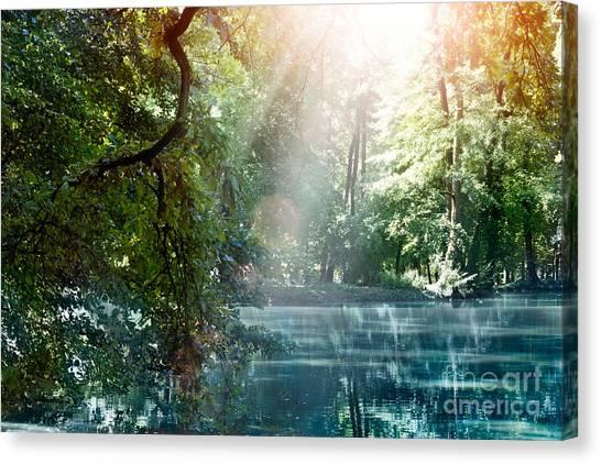 Mythja Canvas Print - Summer Lake by Mythja  Photography