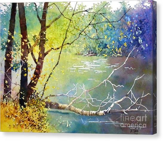 Summer Lakeside Canvas Print