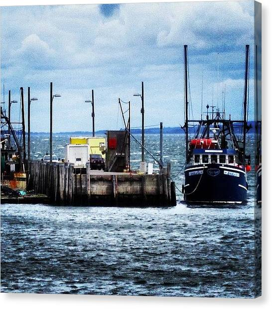 Fishing Boats Canvas Print - #summer #memories #vacation #digby by Lucy Siciliano