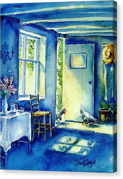Summer Morning Visitors  Canvas Print