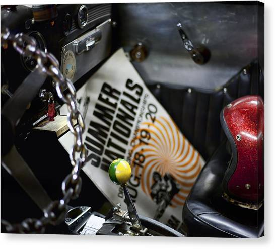 Chain Link Canvas Print - Summer Nationals by Peter Chilelli