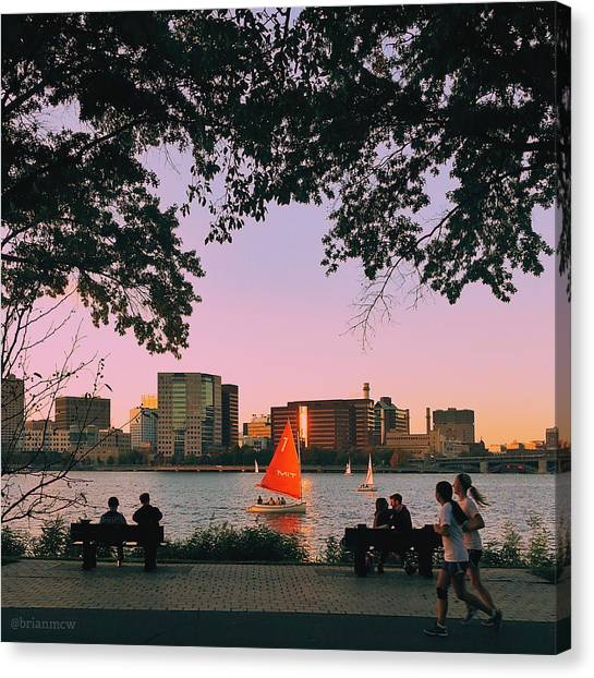 Canvas Print - Summer Night Activities On The Esplanade by Brian McWilliams