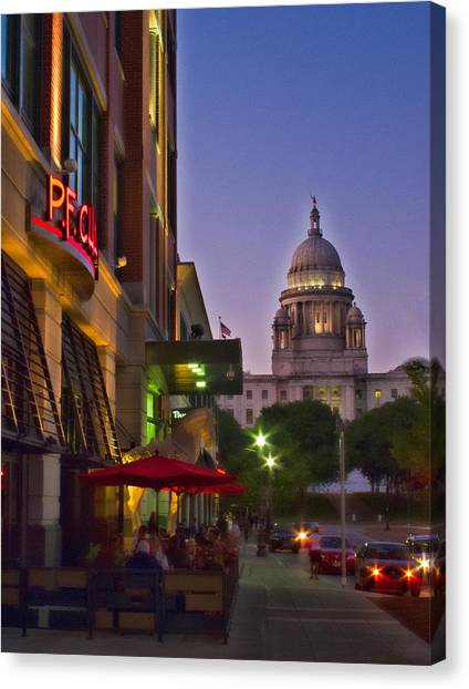 Summer Night In Providence Canvas Print