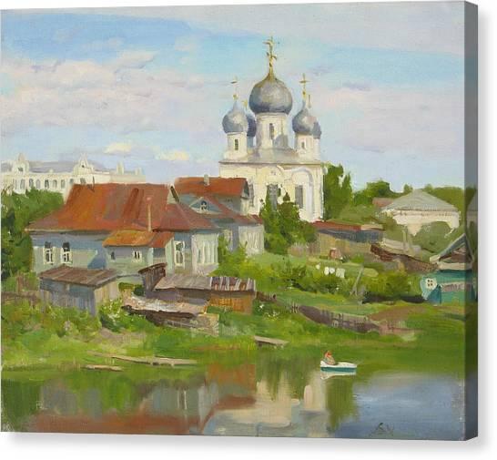 City Landscape Canvas Print - Summer. Old Town by Victoria Kharchenko