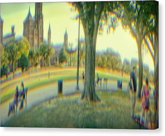 Canvas Print - Summer On The Mall by Ron Morecraft