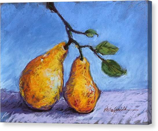 Summer Pears Canvas Print by Kelley Smith