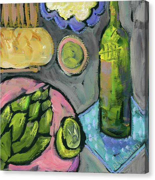 Asparagus Canvas Print - Summer Picnic by Pamela J. Wingard
