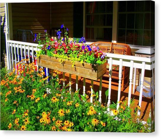 'summer Porch' Canvas Print