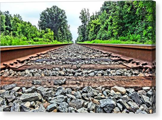 Train Conductor Canvas Print - Summer Railroad Tracks by Dan Sproul