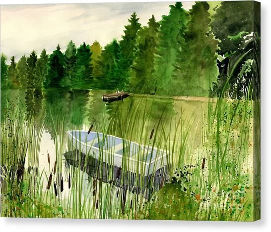 Marsh Grass Canvas Print - Summer Reflection by Melly Terpening