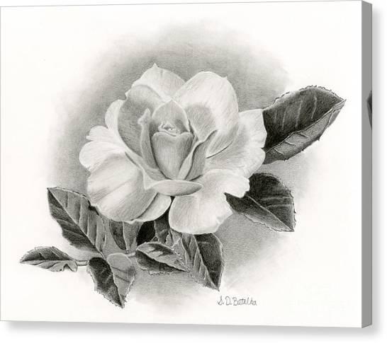 Pattern Canvas Print - Vintage Rose by Sarah Batalka