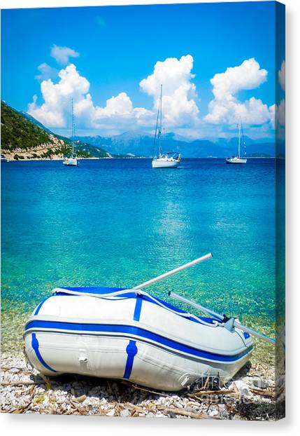 Summer Sailing In The Med Canvas Print