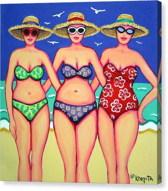 Summer Sisters - Beach Canvas Print