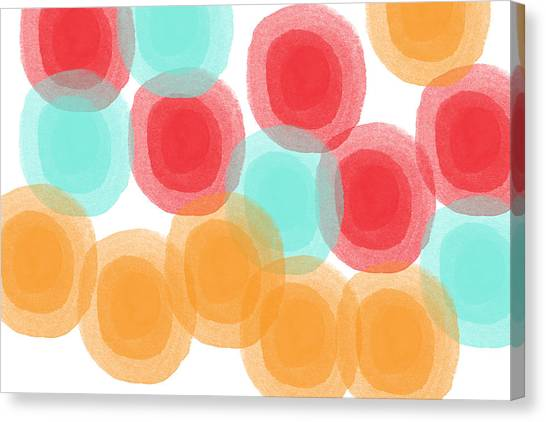 Big Red Canvas Print - Summer Sorbet- Abstract Painting by Linda Woods
