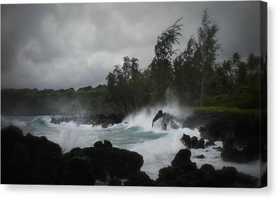Summer Storm Hana Bay Hawaii Canvas Print