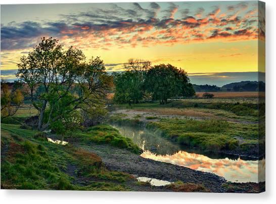 Summer Stream Sunrise Canvas Print